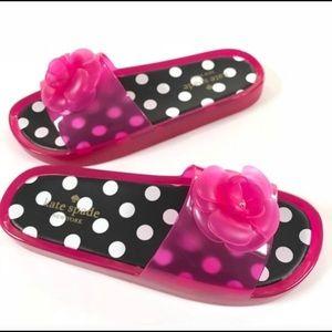 Kate Spade Hot Pink Polka Dots Slides